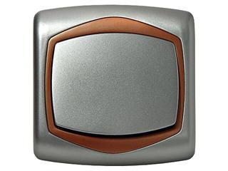 Łącznik natynkowy TON METALIC zwierny światło srebro miedź Ospel