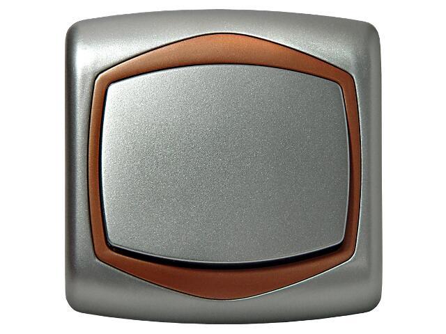 Łącznik natynkowy TON METALIC zwierny dzwonek srebro miedź Ospel