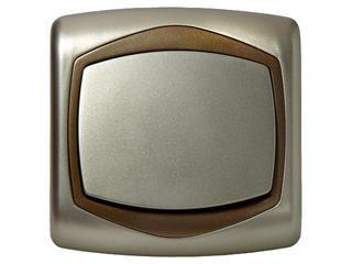 Łącznik natynkowy TON METALIC jednobiegunowy satyna złoto Ospel