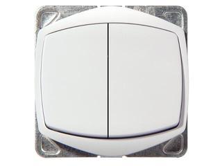 Łącznik modułowy TON COLOR SYSTEM dwugrupowy świecz. biały Ospel