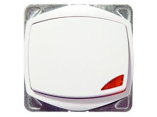 Łącznik modułowy TON COLOR SYSTEM jednobiegunowy z podśw. biały Ospel