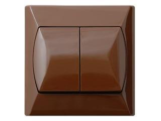 Łącznik natynkowy AKCENT schodowy+jednobiegunowy brązowy Ospel