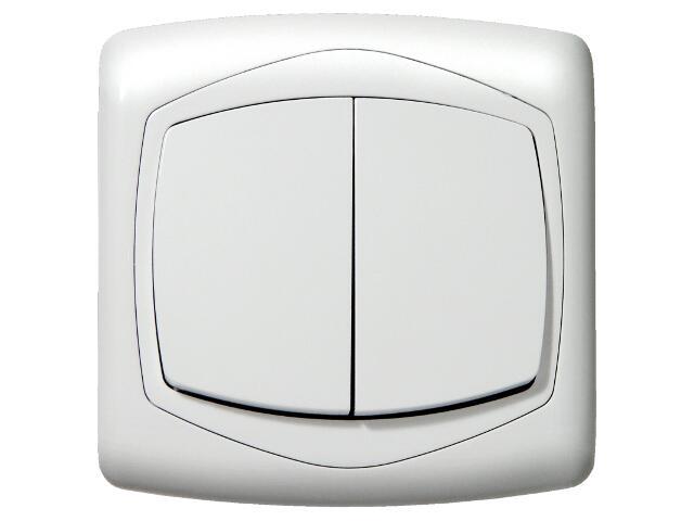 Łącznik natynkowy TON schodowy+jednobiegunowy biały Ospel