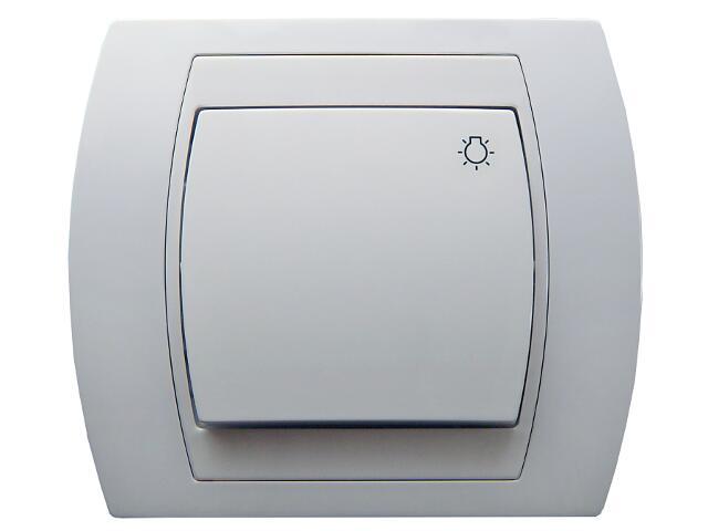Łącznik natynkowy GAZELA zwierny światło biały Ospel