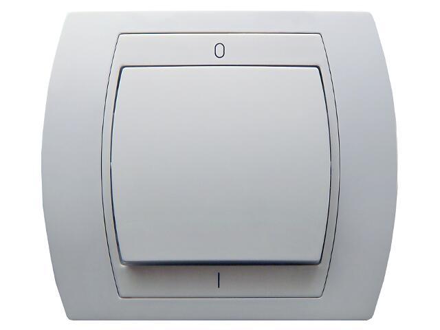 Łącznik natynkowy GAZELA dwubiegunowy biały Ospel