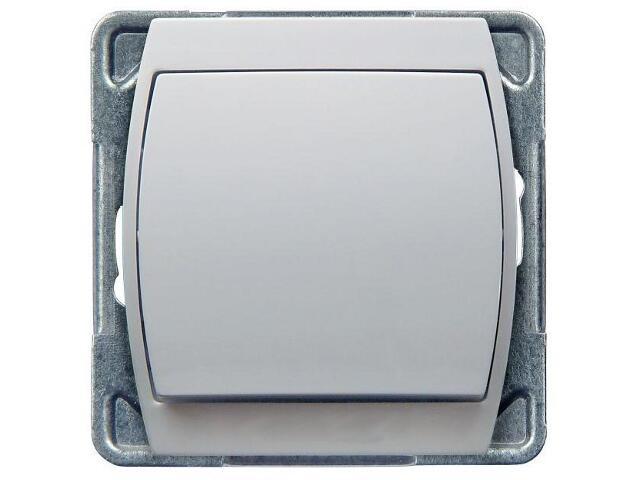 Łącznik modułowy GAZELA jednobiegunowy biały Ospel