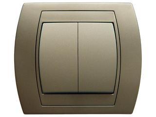 Łącznik natynkowy GAZELA METALIC podwójny schodowy satyna Ospel