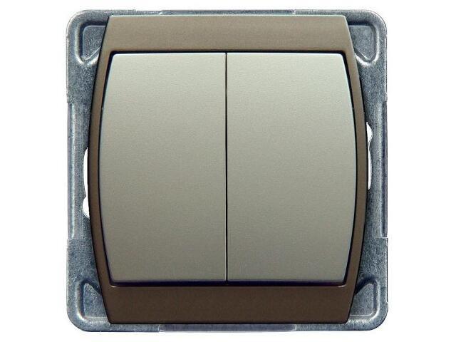 Łącznik modułowy GAZELA METALIC podwójny schodowy srebro tytan Ospel