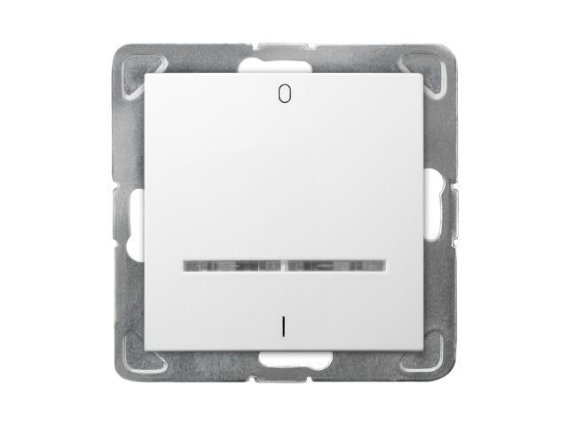 Łącznik modułowy IMPRESJA dwubiegunowy z podśw. biały Ospel