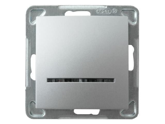 Łącznik modułowy IMPRESJA kontrolny srebro Ospel