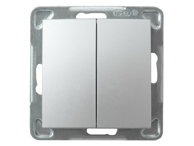 Łącznik modułowy IMPRESJA podwójny schodowy srebro Ospel