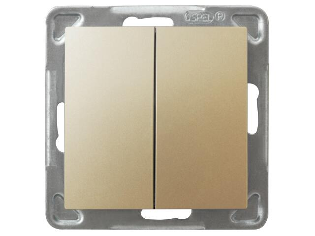 Łącznik modułowy IMPRESJA dwugrupowy złoty metalik Ospel