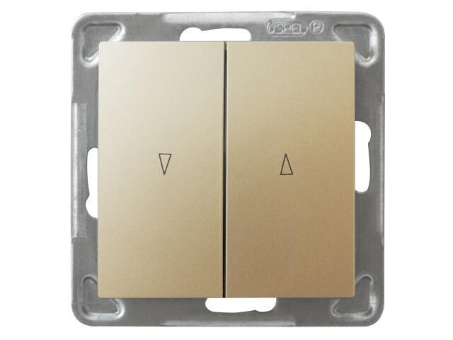 Łącznik modułowy IMPRESJA żaluzjowy złoty metalik Ospel