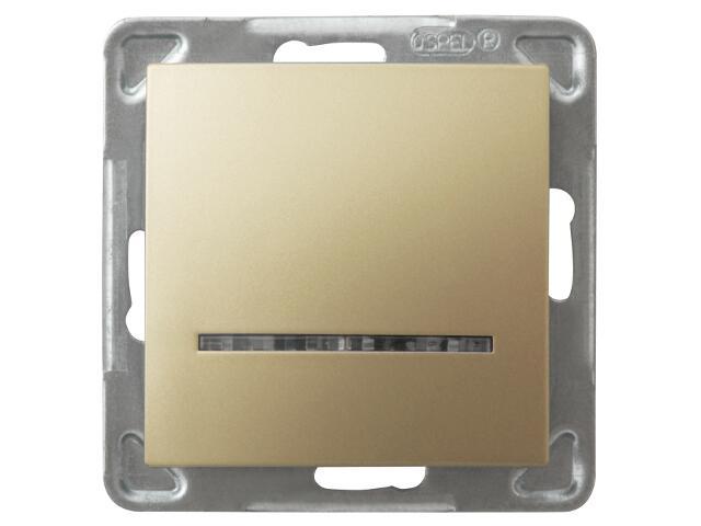 Łącznik modułowy IMPRESJA kontrolny złoty metalik Ospel