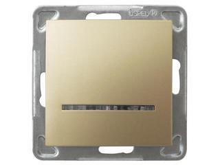 Łącznik modułowy IMPRESJA jednobiegunowy z podśw. złoty metalik Ospel