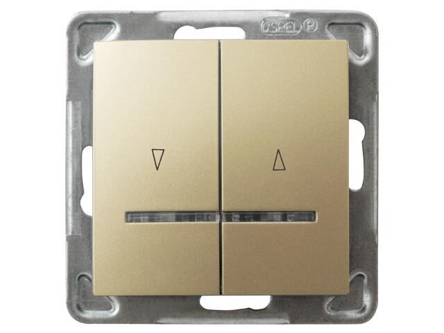 Łącznik modułowy IMPRESJA żaluzjowy z podśw. złoty metalik Ospel