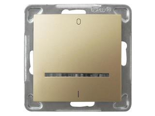 Łącznik modułowy IMPRESJA dwubiegunowy z podśw. złoty metalik Ospel