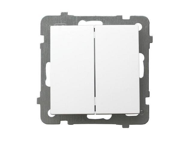 Łącznik modułowy AS schodowy + jednobiegunowy biały Ospel