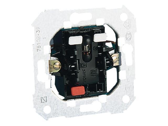 Łącznik natynkowy Simon 82 jednobiegunowy z podśw. po załączeniu 75102-39 Kontakt Simon