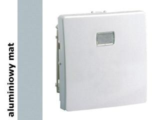 Klawisz Simon 82 z okienkiem 82013-33 aluminium mat Kontakt Simon