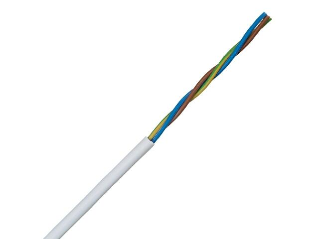 Przewód przyłączeniowy OMY 3x1mm 10m 300/300V biały