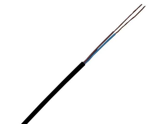 Przewód przyłączeniowy OMY 2x1mm 300/300V czarny