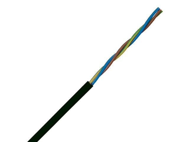 Przewód przyłączeniowy OMY 3x0,75mm 300/300V czarny