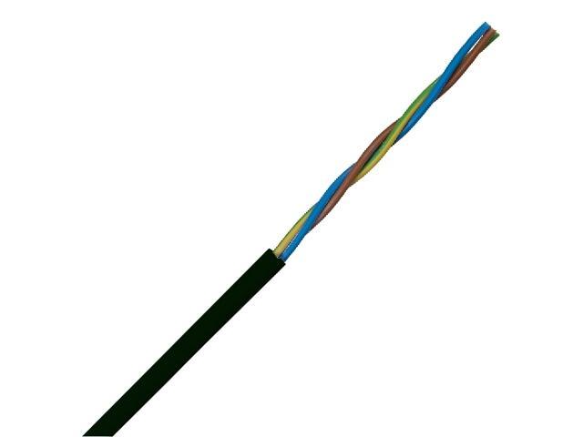 Przewód przyłączeniowy OMY 3x1,5mm 300/300V czarny