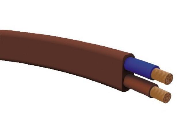 Przewód przyłączeniowy OMYp 2x0,75mm 300/300V brązowy