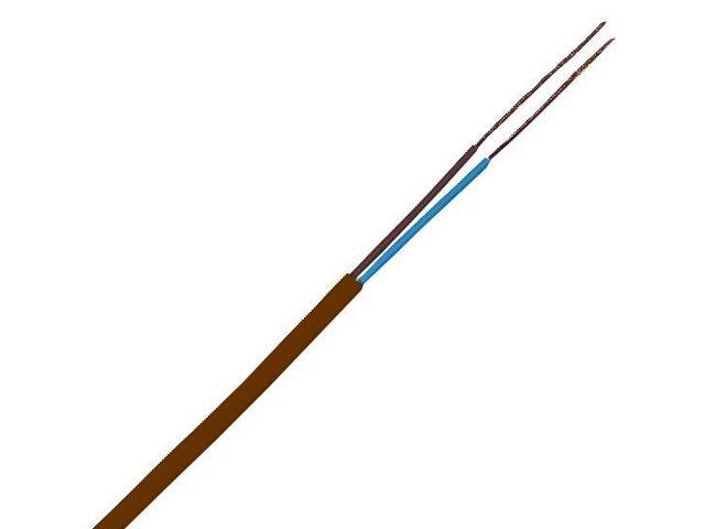 Przewód przyłączeniowy OMYp 2x1mm 300/300V brązowy