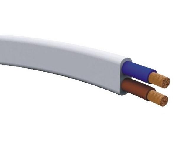 Przewód przyłączeniowy OMYp 2x0,75mm 10m 300/300V biały