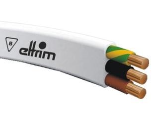 Przewód instalacyjny YDYp 3x1,5mm 25m 300/500V biały Eltrim