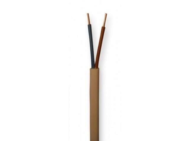 Przewód instalacyjny YDYp 2x1mm 10m 300/500V biały Eltrim