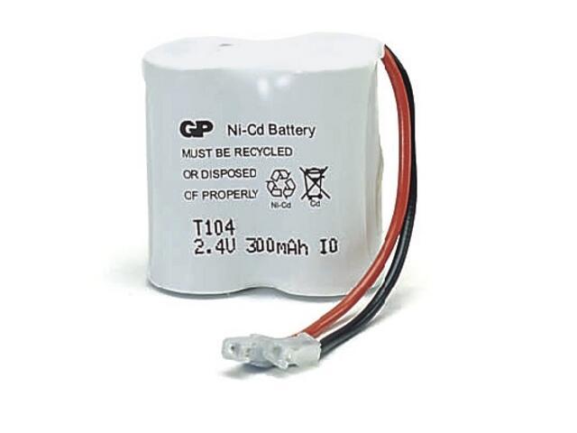 Akumulator niklowo-kadmowy; 2.4V; 300mAh; 30AAK2BMU list 1 szt. GP Battery