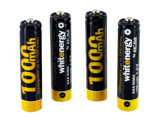 Akumulatorki AAA 1000mAh + latarka LED 04475 Whitenergy