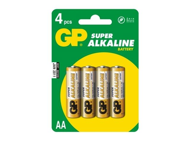 Bateria alkaliczna; AALR6; 1.5V list 4 szt. GP Battery