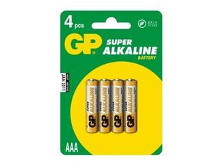 Bateria alkaliczna; AAALR03; 1.5V list 4 szt. GP Battery