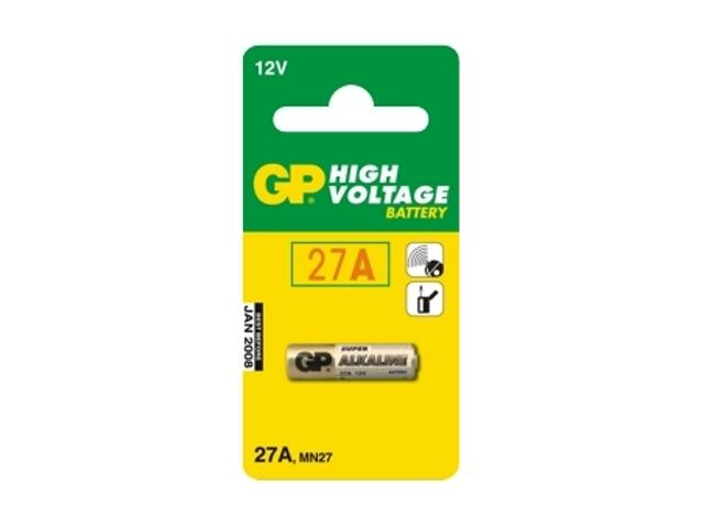 Bateria alkaliczna; MN27; 12.0V list 1 szt. GP Battery