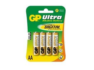 Bateria alkaliczna;ultra AALR6; 1.5V list 4 szt. GP Battery