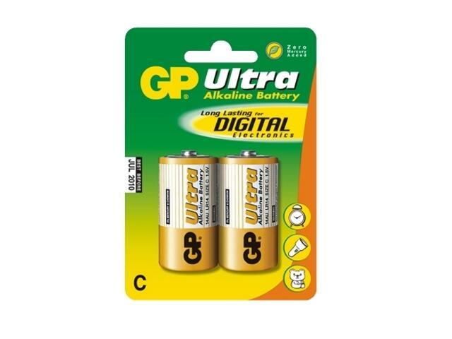 Bateria alkaliczna;ultra CLR14; 1.5V list 2 szt. GP Battery
