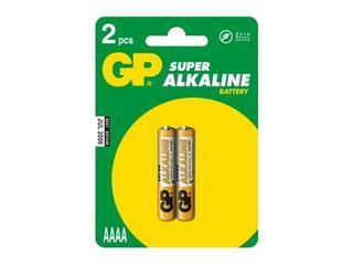 Bateria alkaliczna; AAAALR61; 1.5V list 2 szt. GP Battery
