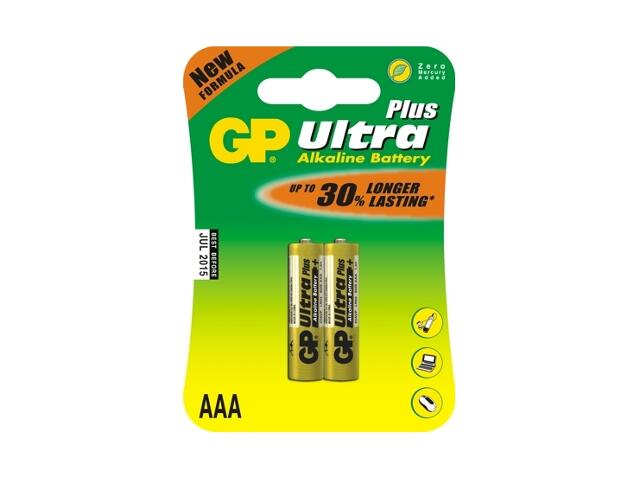 Bateria alkaliczna plus AAALR03; 1.5V list 2 szt. GP Battery