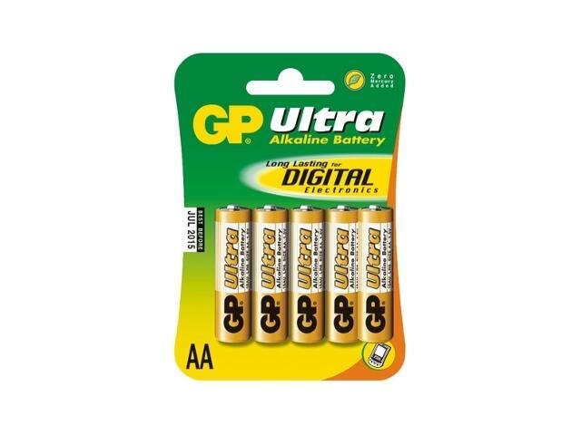Bateria alkaliczna; AALR6; 1.5V list 5 szt. GP Battery