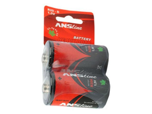 Bateria R20A HEAVY DUTY blister 2 szt. ANS