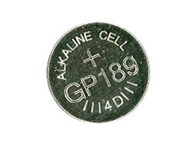 Bateria pastylkowa alkaliczna; AG10LR54; 1.5V list 10 szt. GP Battery