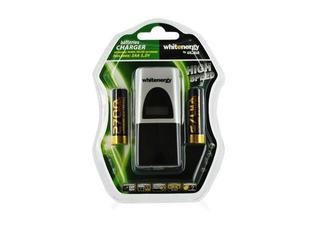 Ładowarka z wyświetlaczem LCD na 2 akumulatory AA/AAA+ 2 akumulatorki 2700AA 05732 Whitenergy