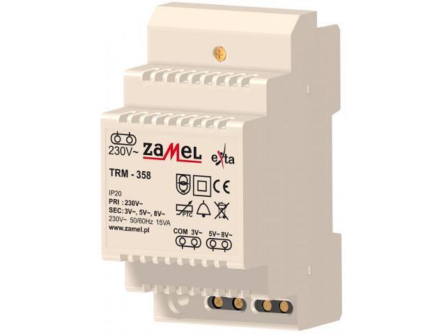 Transformator na szynę T-35 230V/3V.5V.8V typ:TRM-358 Zamel