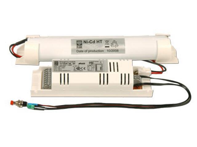 Zasilacz awaryjny TYTAN 36 moduł z autotestem do opraw 6-36W 1h Elgo