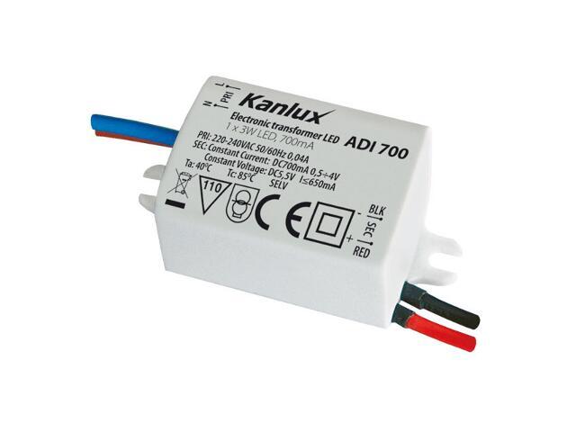 Zasilacz do taśm LED ADI 700 1x3W Kanlux
