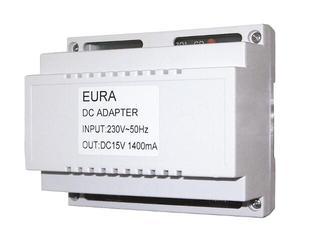 Zasilacz RL-A1 do wideodomofonu na szynę DIN 15V 1400mA Eura-Tech